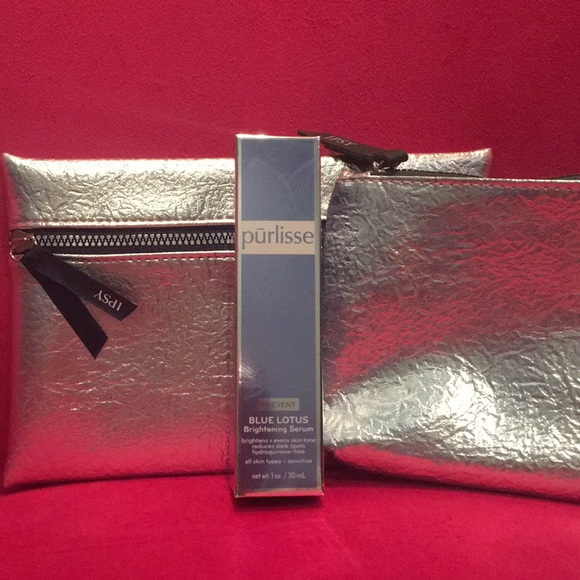 Purlisse Other - Purlisse Blue Lotus Serum & Silver Bag Dio NWT